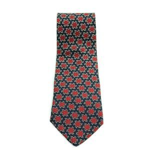 Christian Dior Monsieur Red Blue Abstract SilkTie